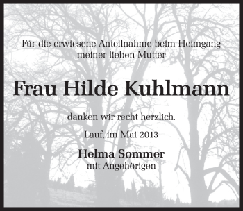 Zur Gedenkseite von Hilde Kuhlmann